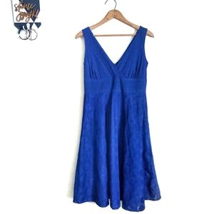 Sandra Darren Blue Fit & Flare Dress